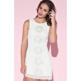 Wholesale - KM Chiffon White Color Sleeveless Lady Dress Evening Dress