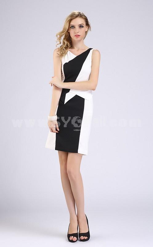 AS New Arrival OL Style Irregular Figure Pattern Dress Evening Dress DR142