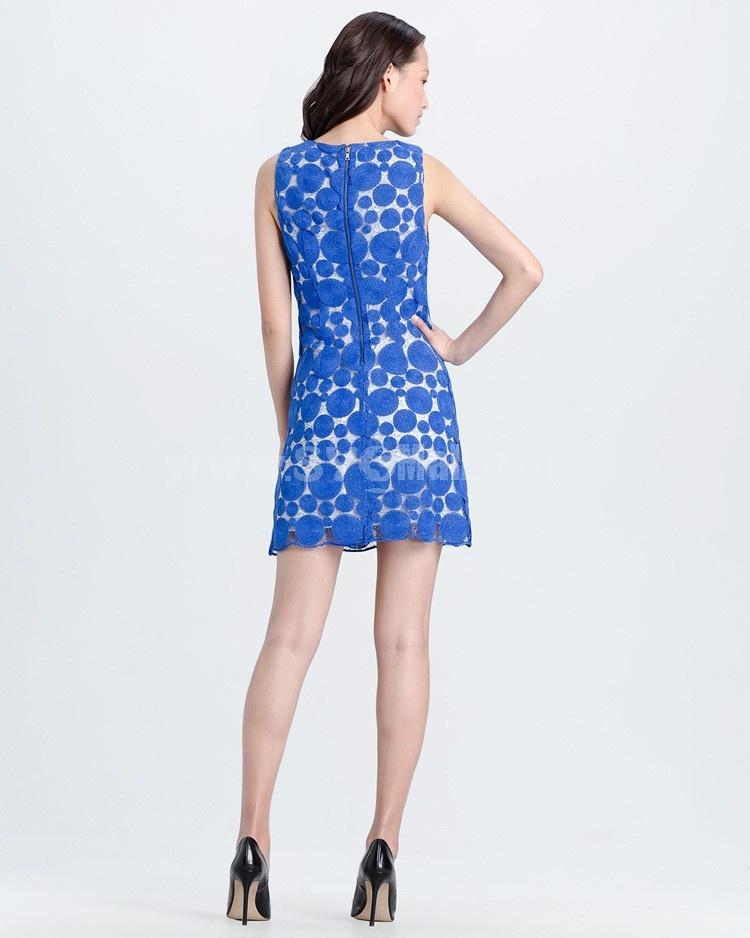 Luxury Gold Thread Embroidery Sleeveless Slim Dress Evening Dress