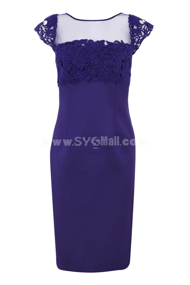COAST New Arrival Elegant Solid Color Embroidery Dress Evening Dress CT9770