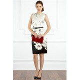 Wholesale - COAST  Peony Printing Slim Dress Evening Dress CT6280 Belt Free