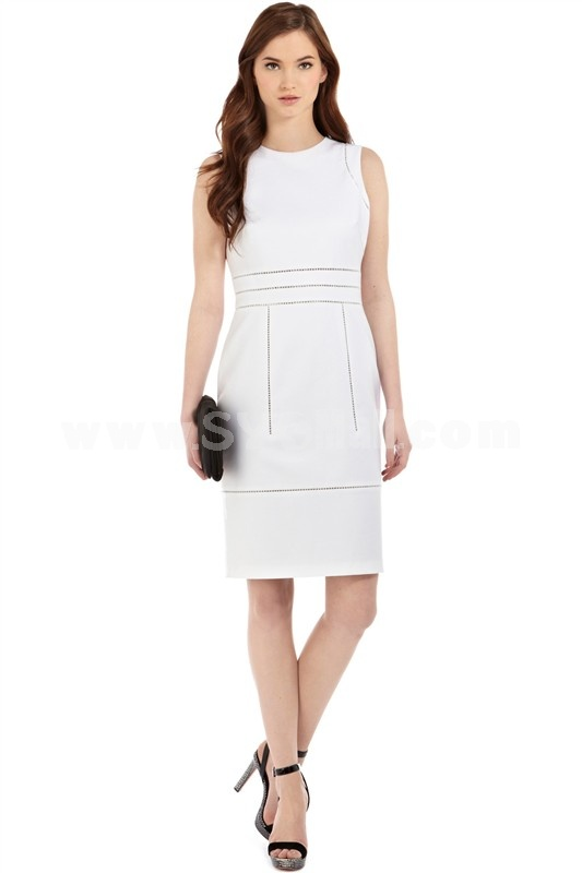 KM Fashion Simple Design Sleeveless Dress Evening Dress KC076