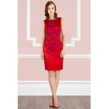 Wholesale - COAST  Red Embroidery Sleeveless Dress Evening Dress CT7585