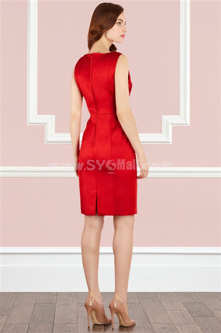 COAST New Arrival Red Embroidery Sleeveless Dress Evening Dress CT7585
