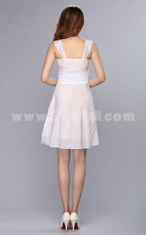 KM New Arrival Hollowed out Suspender Skirt Dress Evening Dress