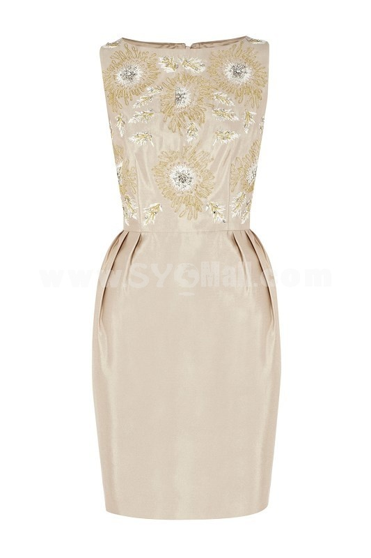 COAST New Arrival Beads Flower Decration Slim Dress Evening Dress CT3809