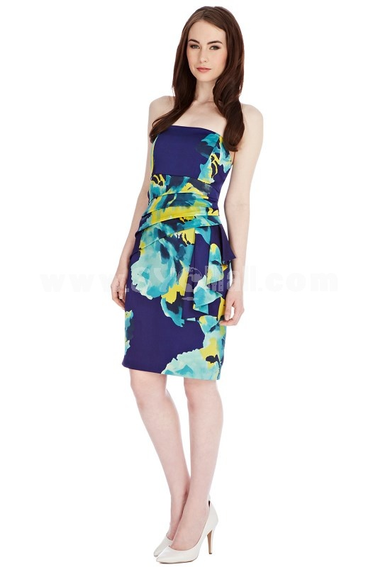 COAST New Arrival Sexy Backless Flower Printing Dress Evening Dress CT5798