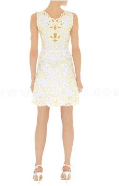 COAST New Arrival Luxury Yellow Embroidery Dress Evening Dress DQ195