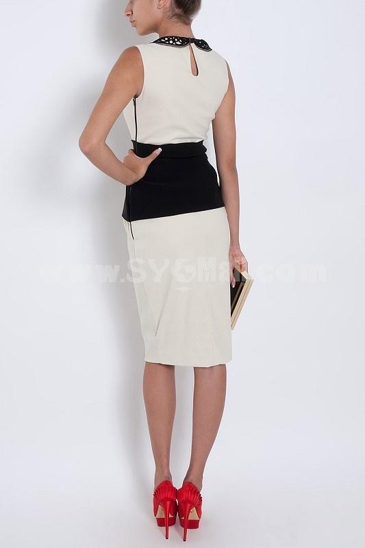 COAST New Arrival OL Style Unique Design Slim Sleeveless Dress Evening Dress KM707