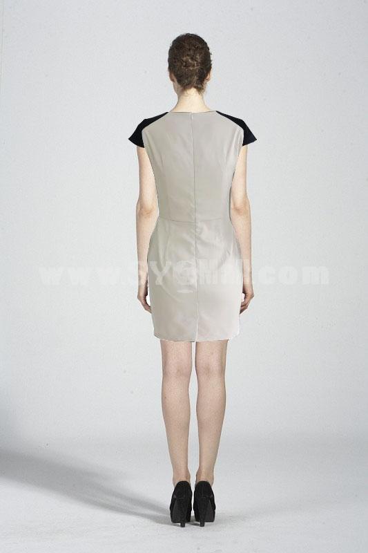 Coast New Arrival Short Sleeve Printing A-Line Dress Evening Dress