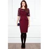 Wholesale - Dress Evening Falbala Round Neck Backless Slim Dress KC010