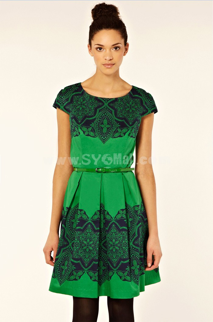 New Arrival Vintage Style Full-skirted Dress Evening Dress 2100