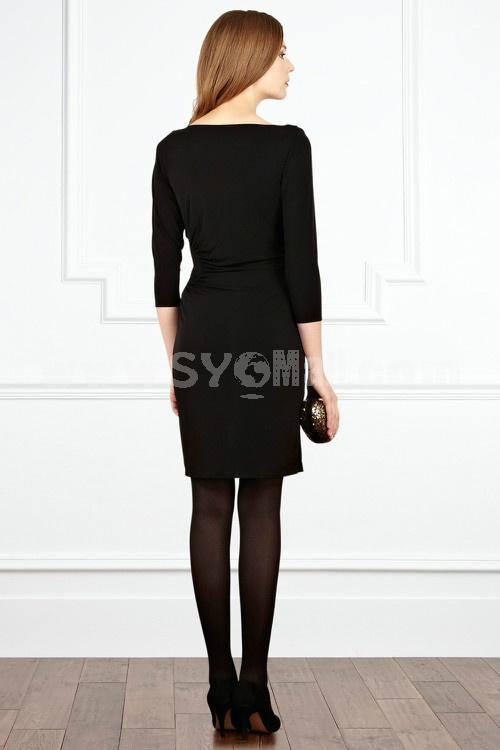 New Arrival Sexy V-neck Falbala Slim Dress Evening Dress kc020A