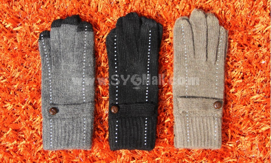 Touchscreen compatible  wool warm gloves  highly sensitive