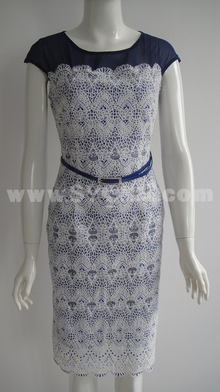 AS New Arrival Sexy Lace Joint Dress Evening Dress  YD097