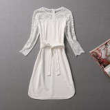 Wholesale - Sexy Lace Long Sleeve Dress Evening Dress