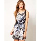Wholesale - KM Fashion Sleeveless Printing Slim Dress Evening Dress DP054