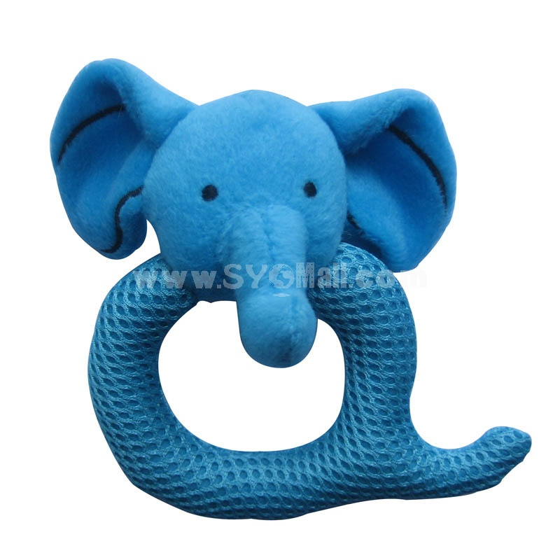 Q Shaped Eyelet Fabric Pet Plush Toys -- Elephant