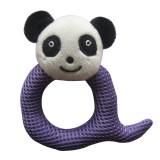 Wholesale - Q Shaped Eyelet Fabric Pet Plush Toys -- Panda