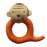 Wholesale - Q Shaped Eyelet Fabric Pet Plush Toys -- Monkey