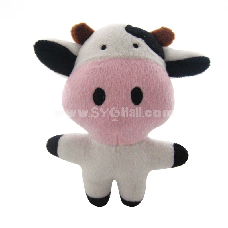 ForestSerise Animal Pattern Plush Toys With Sound Module -- Cow