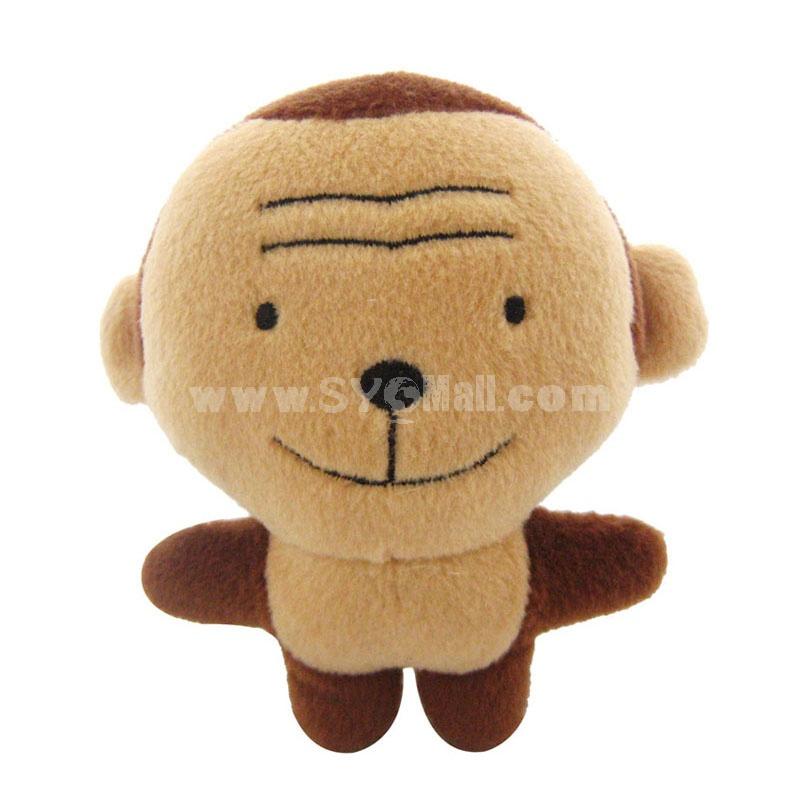 ForestSerise Animal Pattern Plush Toys With Sound Module -- Monkey