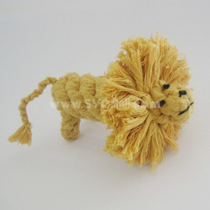 Animals Series Cotton String Pet Toys -- Lion