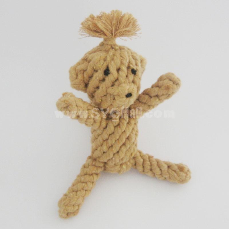 Animals Series Cotton String Pet Toys -- Monkey