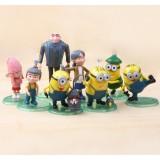 Wholesale - 8pcs/Kit DESPICABLE ME 2 The Minions Action Figures/Garage Kit Model Toy