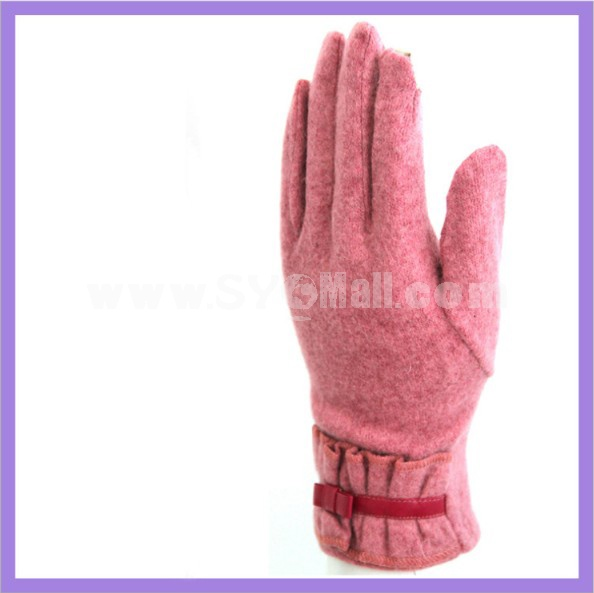 Boutique warm cashmere touchscreen smart gloves