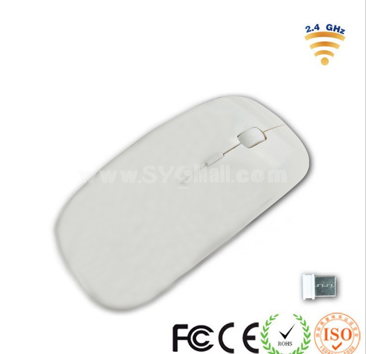 2.4G Professional Wireless Apple Mouse White Color