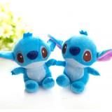 Wholesale - 2pcs/Kit Stitch Plush Toy Couple Key Chian Cellphone Charm