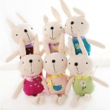 "Wholesale - 6pcs/Kit 22cm/8.7"" Rabbit Plush Toy Key Chain Cellphone Charm"