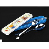 Wholesale - Large Size Portable Stainless Steel Tableware Set Fork Spoon and Chopsticks Set