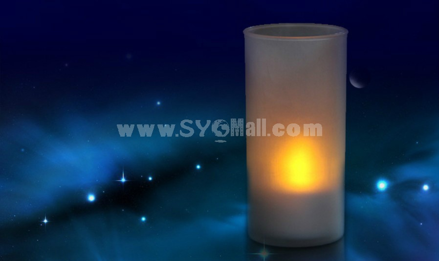 Special colorful voice control candle shape night light