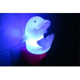 Wholesale - Cute dolphin plug in bedsides light