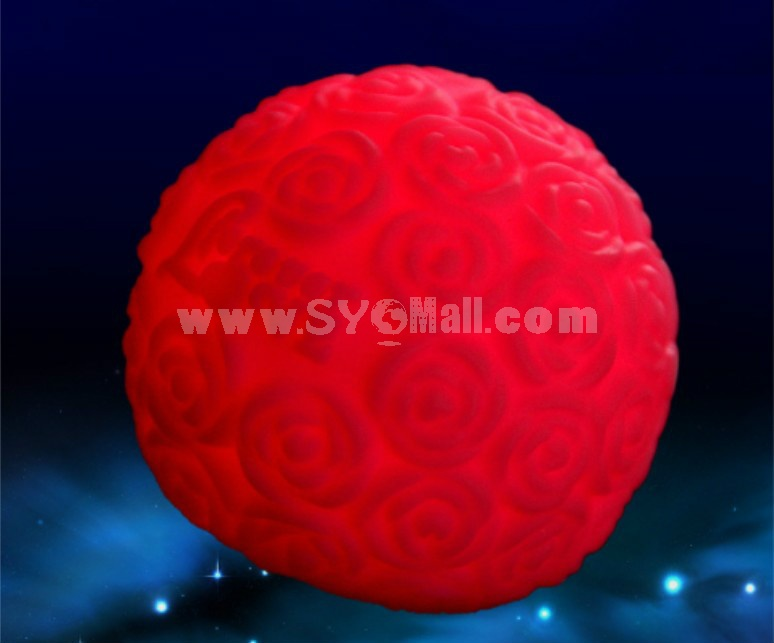 Colorful rose LED ball night light