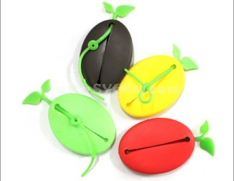 Cute coffee bean shaped key bag
