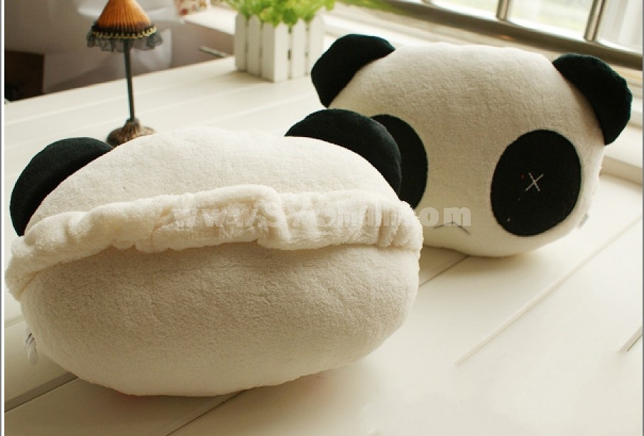 Cartoon panda car waist cushion