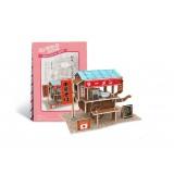 Wholesale - Cute & Novel DIY 3D Jigsaw Puzzle Model World Series - Japanese Ramen Stall