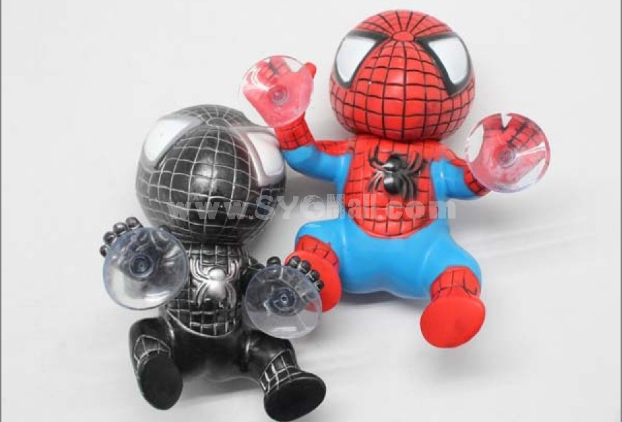 Suction cup spiderman doll