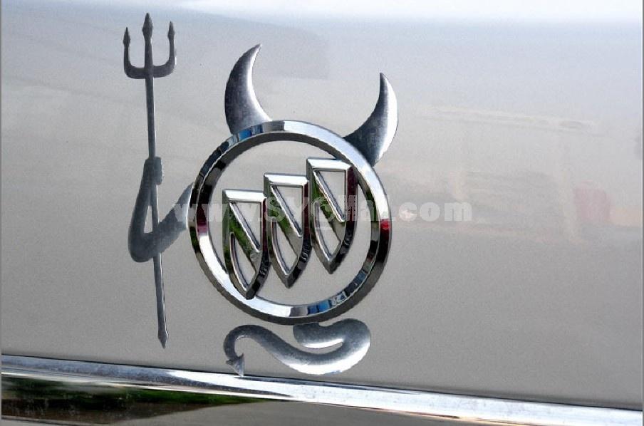 Metal lovely devil car stickers