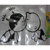 Wholesale - Cute Kissing Babies Car Bumper Decal Sticker