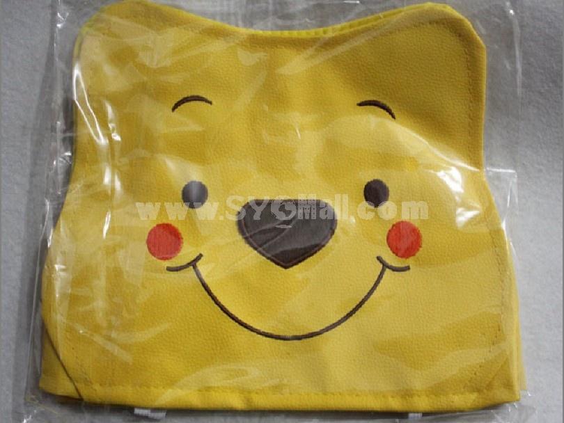 Leather bear car tissue box