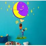 Wholesale - DIY Moon Clock LED Night Light Wall Sticker