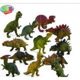 Wholesale - 12pcs/Kit Dinosaurs Novel Figureine Toys Jurassic Park