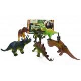 Wholesale - 6pcs/Kit Dinosaurs Novel Figureine Toys Jurassic Park