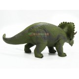 wholesale - Dinosaur Figure Soft Rubber Toy Simulation Triceratops 11Inches