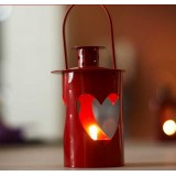 Wholesale - European Style Red Color Hallowed-out Loving-heart Shaped Candle Holder Candlestick