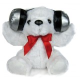 wholesale - The Good Wife Swing Recording Speaker Children Story Teller Supports TF Card and USB Flash Disk -- White Bear
